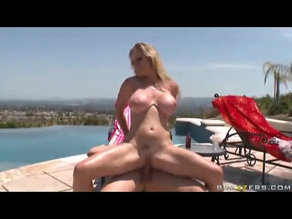 Milf sucks and sits on a cock outdoors