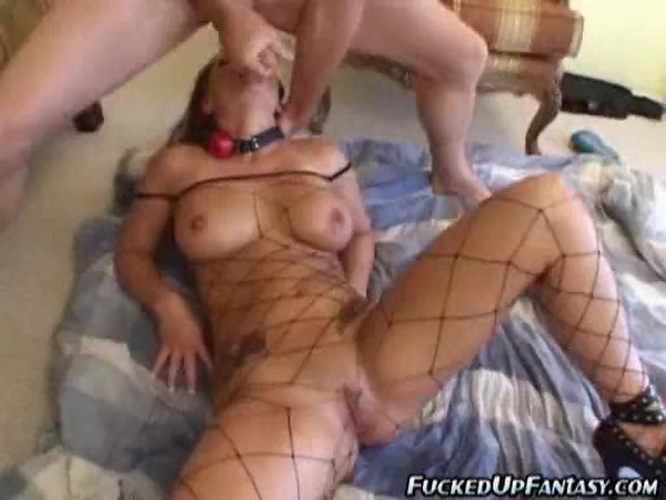 Submissive girl happily takes anal and a face fucking