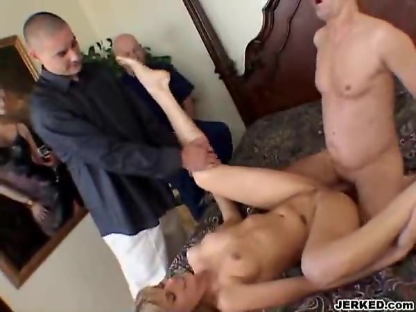 Watching his wife fucked by another man