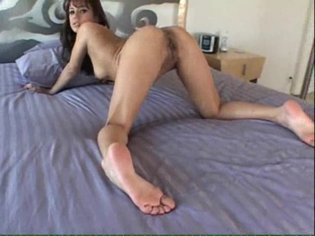 Sexy girl with sexy feet masturbating