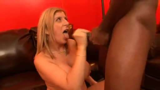 Sara Jay makes oral love to his big black cock