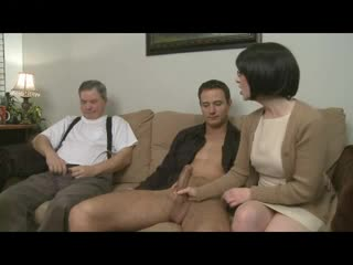 Submissive humiliated by mistress that fucks new man
