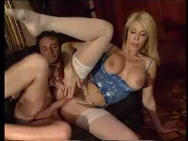 Sexy milf fucked as watching babe masturbates