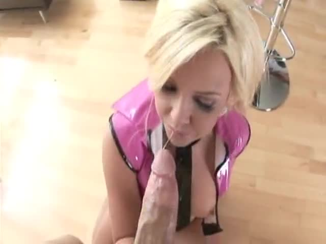 POV sex with a cock eating blonde slut