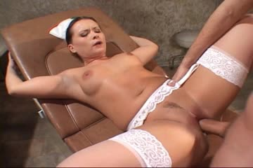 Euro nurse in stockings anal sex