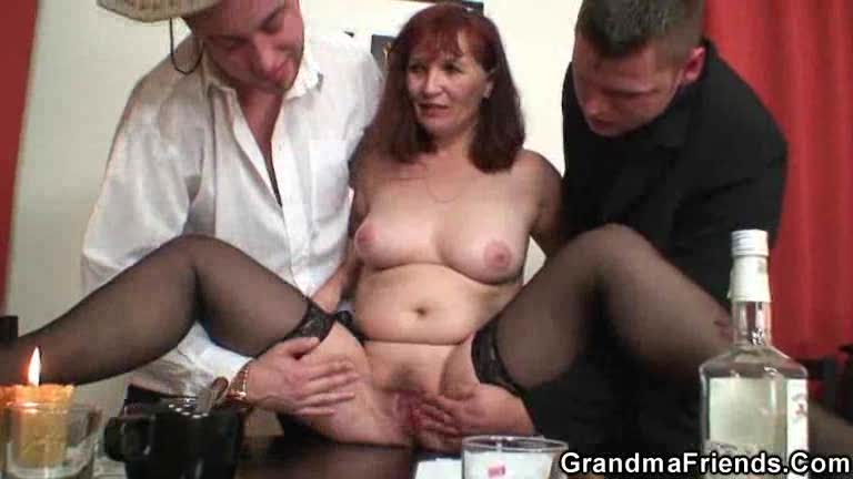 Mature fucked after losing strip poker