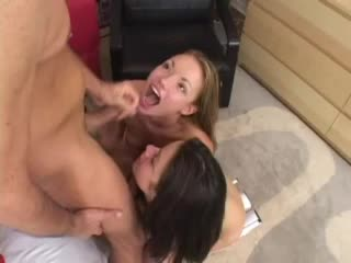 Maya Hills and Isabella Dior suck big cock