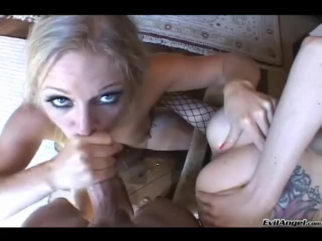 Redhead fingers as blonde sucks your cock