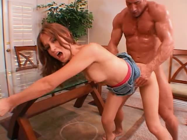 She is beautiful and fit and has fun with his big cock
