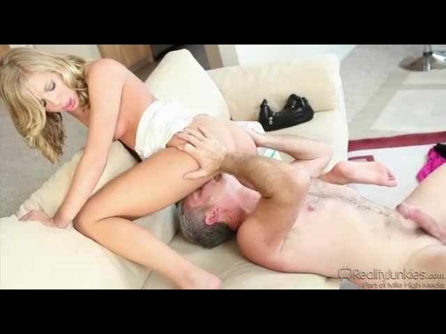 Hardcore sex with a eager blonde cock fiend