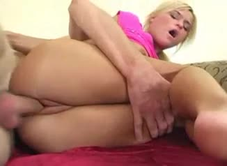 Sweet petite blonde girl pumped in the cunt