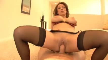 Big tits cougar blowjob and fuck in POV