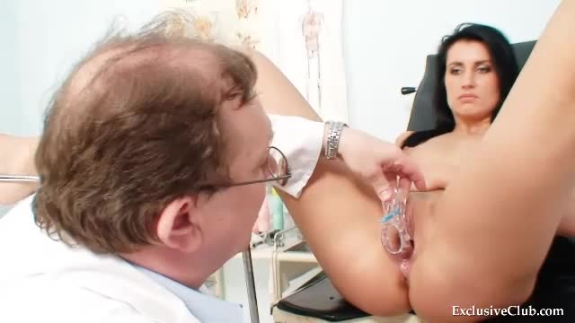 Breast and pussy exam from her doctor