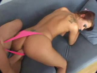 Big dick fucking redheaded bitch in POV