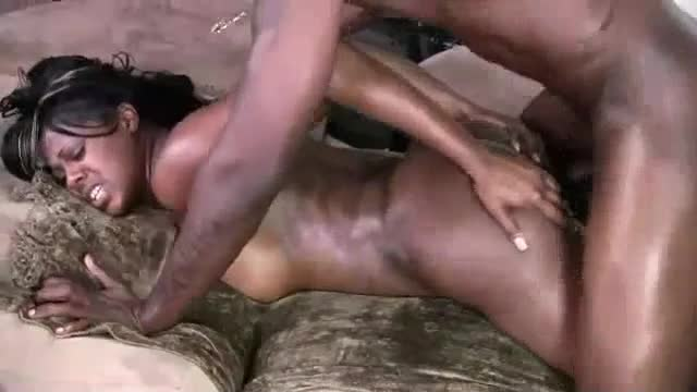 Oiled up black on black hardcore porn