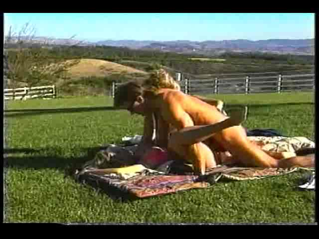 Victoria Paris in a threesome filmed outdoors