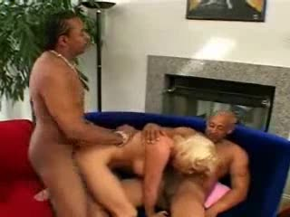 Two guys have their way with sexy blonde