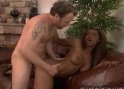 Black girl taking a long white dick