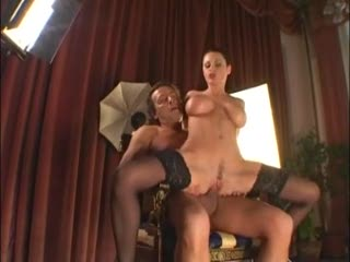 European in stockings has big cock sex