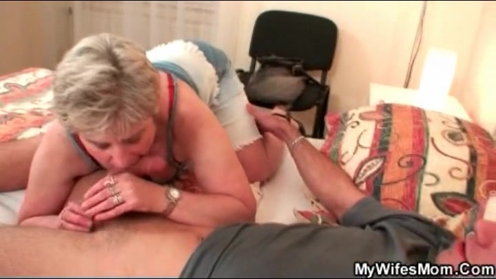 Naughty mother in law sucks his cock