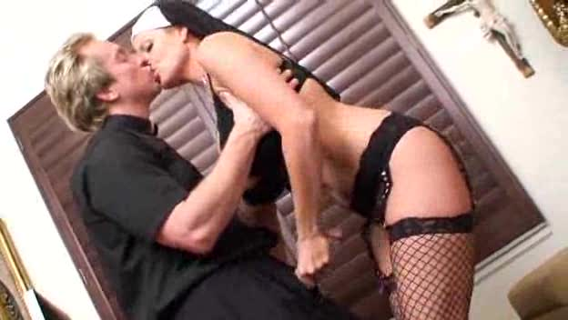 Naughty nun slut fucked by the horny priest
