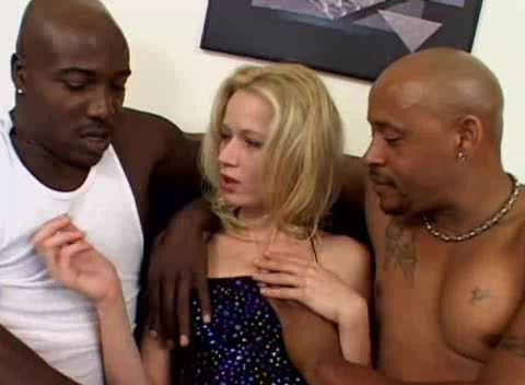 Black men with big cocks DP a skinny blonde