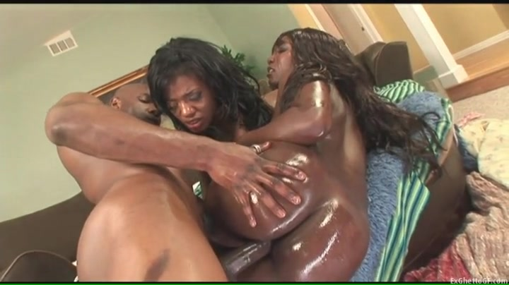Slippery ladies fucked by a fit black guy
