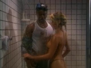 Black cock in the shower for white girl