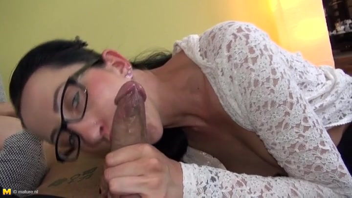 Skinny hottie in a cardigan fucked passionately