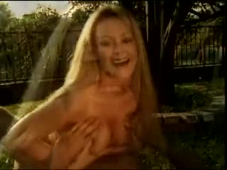 Luscious big tits fucked outdoors