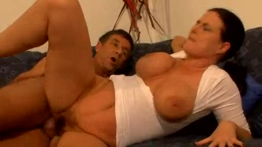 Her big tits drive him wild with desire