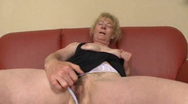 Masturbating mature finds a man to fuck her