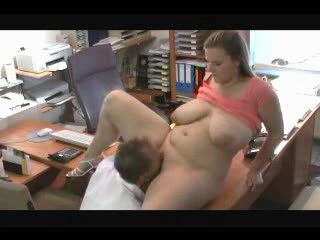 He puts cock into amateur BBW from behind