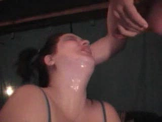 Extreme throat fucking with puke and pissing