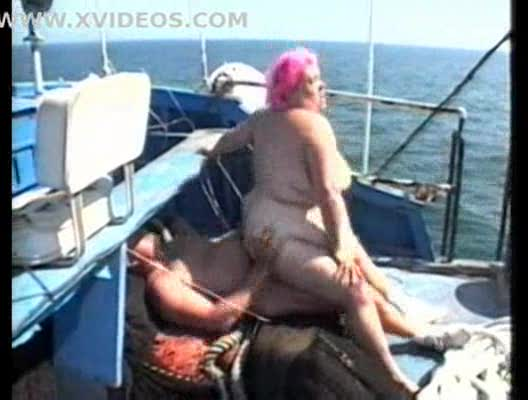 Super BBW is fucked on a boat