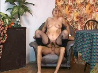 Luscious anal sex with a girl in stockings