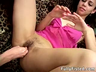 Hairy cunt fisted nicely