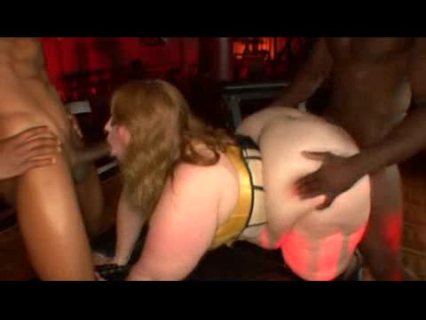 Fat bitch in lingerie plowed in her cunt
