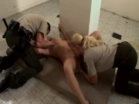 Hot threesome in prison