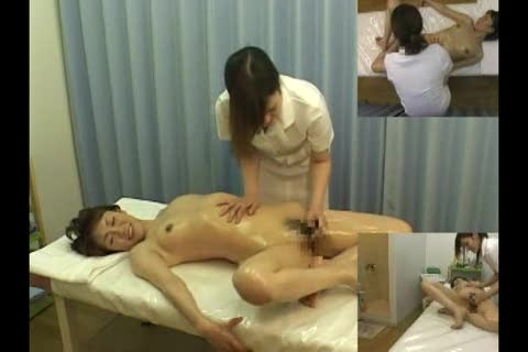 Wet arousing massage for Japanese girl