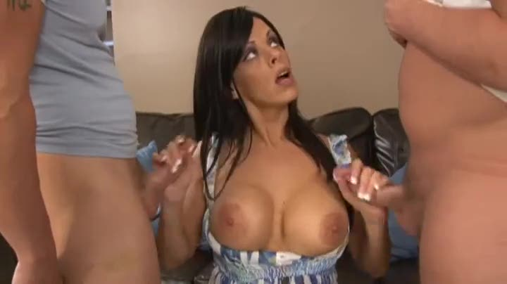 Momma spanks and blows them both