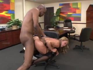 Office milf and her big black lover